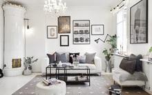Trang trí bằng cặp màu cổ điển nhưng những phòng khách này không mang vẻ cũ kĩ chút nào