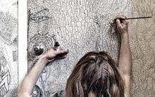 Nhà tắm đẹp hút mắt với nét vẽ nghệ thuật độc đáo