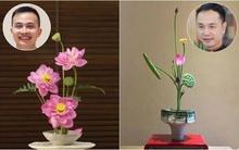 Những cách cắm hoa sen khiến