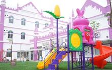 Choáng ngợp trước ngôi trường mầm non màu hồng tím trông như tòa lâu đài cổ tích