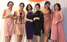 Các quý cô công sở xúng xính xinh tươi trong tiệc tất niên công ty