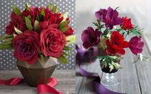 2 cách làm bình hoa giấy sắc đỏ rực rỡ đón xuân
