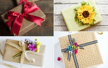 4 cách trang trí gói quà đẹp xinh cùng dây ruy-băng