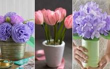 Trang trí nhà đẹp cùng 3 cách làm hoa giấy cực dễ