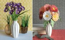 2 cách làm hoa giấy đơn giản trang trí nhà đẹp xinh