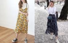 Tưởng không liên quan nhưng váy và giày sneakers lại hợp nhau ra phết!