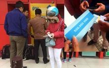 Hà Nội: Người dân tò mò khi cây ATM nhả tờ giấy in chữ 500.000 đồng thay vì tiền mặt