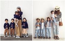 Gia đình đông con ăn mặc cực chất, đi đến đâu cũng trở thành tâm điểm chú ý