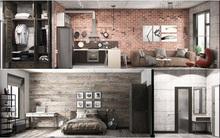 Hai căn hộ 35m² với phong cách trang trí công nghiệp nhưng lãng mạn đến khó tin