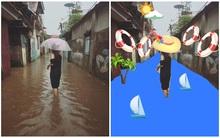 Cô gái lội nước mưa nhờ chỉnh ảnh biển xanh nắng vàng và kết quả không thể