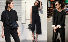 Quý cô hai miền so bì phong cách với những set đồ đen nguyên cây trong street style tuần qua