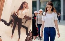 Cùng khoe street style đơn giản với quần jeans: Đỗ Mỹ Linh nhẹ nhàng, Ngọc Trinh lại khoe tiếp túi Hermes