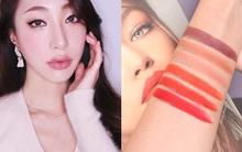 Swatch chân thực về 6 màu son trong BST mỹ phẩm giá rẻ của Gigi Hadid