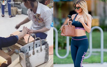 Hermes Birkin: Ngọc Trinh xách đi làm móng, nhà Kardashian thì mang đi... tập gym