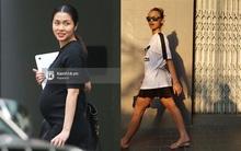 Style của sao: Hà Tăng mãi mới chịu khoe bụng bầu, Quỳnh Mai lại để lộ nhược điểm chân thô