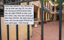Hà Nội: Phụ huynh tá hỏa khi nhà trường nhắn