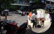 Hà Nội: Xôn xao cô gái bị bạn trai đánh gục trên phố giữa trời nắng vì ghen tuông?