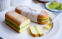 Bánh kẹp kem phô mai trà xanh vừa ngon vừa đẹp mắt