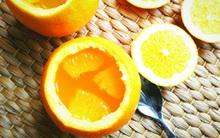 Ngày nắng hanh hao làm thạch cam bổ sung vitamin ngay thôi