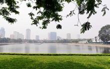 Chùm ảnh: Người dân Thủ đô tận hưởng khoảnh khắc thanh bình ở hồ Thành Công