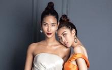 Hoàng Thùy đọ dáng học trò Tường Linh trước khi thi Hoa hậu Hoàn vũ