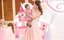 Á hậu Ngô Trà My khoe vóc dáng đáng kinh ngạc trong tiệc sinh nhật con gái tròn 1 tuổi
