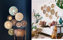 Tường nhà bớt nhàm chán với những món đồ trang trí bằng mây tre đan độc đáo