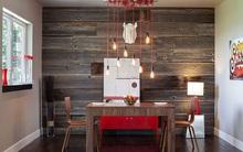Những cách tinh tế để kết hợp gỗ tái chế vào phòng ăn