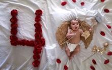 Mẹ kì công lên ý tưởng chụp ảnh đẹp lung linh cho con mỗi tháng