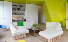 Căn hộ nhỏ hiện đại với thiết kế nội thất thông minh này sẽ làm cho bạn luôn tràn đầy ý tưởng