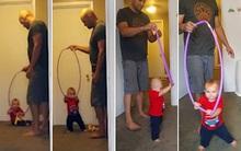 Ông bố thông minh tự thiết kế dụng cụ giúp con tập đi nhanh