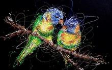 Độc đáo những bức tranh được vẽ bằng bơm kim tiêm