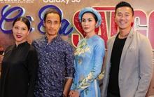 Tăng Thanh Hà xinh đẹp diện áo dài cùng hội bạn thân đến ủng hộ Vân Ngô