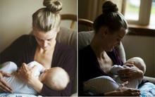 Nghẹn lòng hình ảnh mẹ ung thư rơi nước mắt cho con bú lần cuối trước khi cắt bỏ ngực