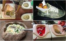 """Những đĩa đựng thức ăn """"sai quá sai"""" của các nhà hàng khiến thực khách"""