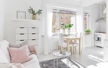 Chỉ 28m² nhưng căn hộ màu trắng này vừa đẹp không tì vết vừa đủ đầy đến