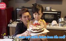 Huy Khánh bí mật cùng con gái làm bánh sinh nhật tặng vợ