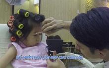 Huy Khánh gây bất ngờ khi trổ tài trang điểm cho con gái