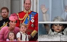 Anh em Hoàng tử nhí tinh nghịch trong lễ mừng sinh nhật thứ 91 của Nữ hoàng Anh