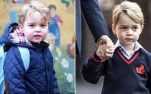 Mới ngày nào còn nhỏ xíu vậy mà hôm nay Hoàng tử bé Anh Quốc đã được cha đưa đi học mẫu giáo 4 tuổi