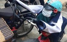 Trò đùa gây tranh cãi trên MXH: Áo khoác, mũ bảo hiểm, khẩu trang của nữ sinh bị độn gạch bẩn để