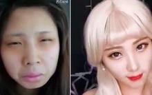 Trên đời có một khoảng cách rất xa, đó là mặt mộc và sau khi make-up của con gái