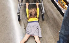 Chùm ảnh chứng minh: Đưa con đi siêu thị là công việc chỉ dành cho những cha mẹ… dũng cảm
