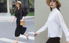 Cầu kỳ gì đâu, Tăng Thanh Hà chỉ cần diện đồ đen - trắng đơn giản thế này thôi cũng đẹp