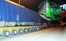Đoàn tàu sắt trên cao đầu tiên đã có mặt tại Hà Nội chuẩn bị lắp ráp
