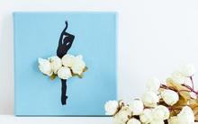 Cách làm tranh 3D siêu đơn giản trang trí phòng đẹp xinh