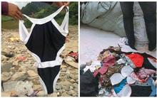 Mang bikini, đồ lót cũ đi từ thiện cho đồng bào vùng lũ Sơn La, nữ