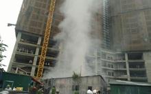 Hà Nội: Cháy lán trại công nhân tại chung cư, nhiều cư dân sống cạnh hốt hoảng