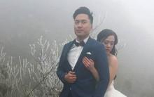 Cặp đôi dũng cảm ăn mặc mong manh chụp ảnh cưới giữa băng tuyết Ô Quý Hồ