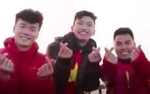 Clip: Các cầu thủ U23 Việt Nam chia sẻ cảm xúc đầu năm trên đỉnh Fansipan